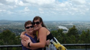 Homestay Brisbane Ruth on day trip to Mt Coot tha